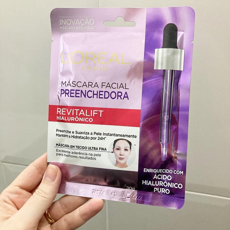 Máscara Facial Preenchedora Revitalift Hialurônico resenha