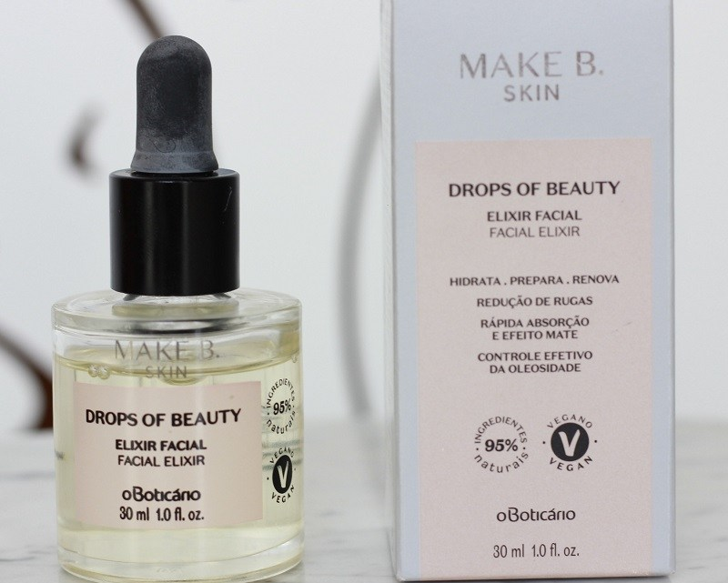 Drops of Beauty Elixir Facial Boticário resenha: como usar? Pra que serve?