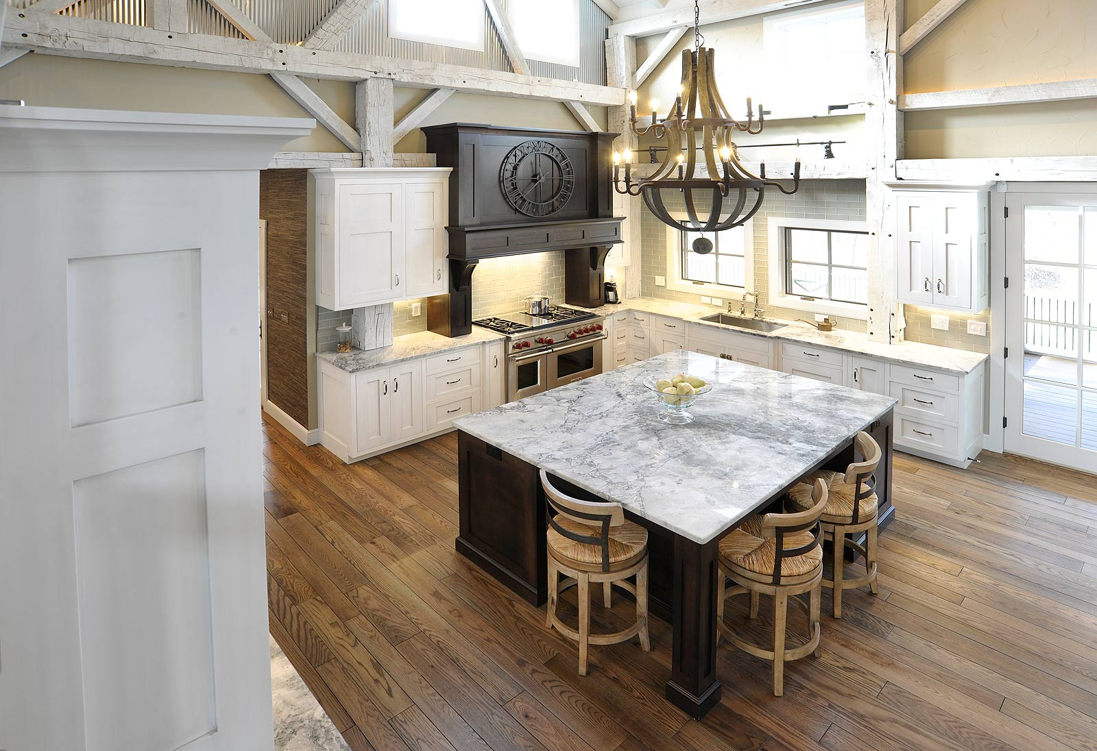Mullet Cabinet Rebuilt Timber Frame Barn Home Kitchen