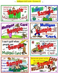 Mulligan Golf Cards Excuses #2