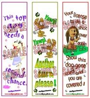 Mulligan Golf Dog Bookmarks
