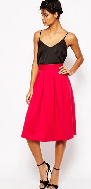 Midi Scuba Skirt