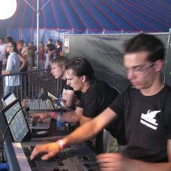 crew personeel audio licht
