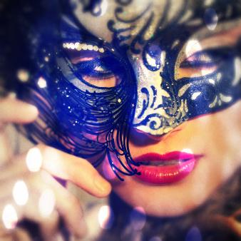 Máscara de carnaval feminina