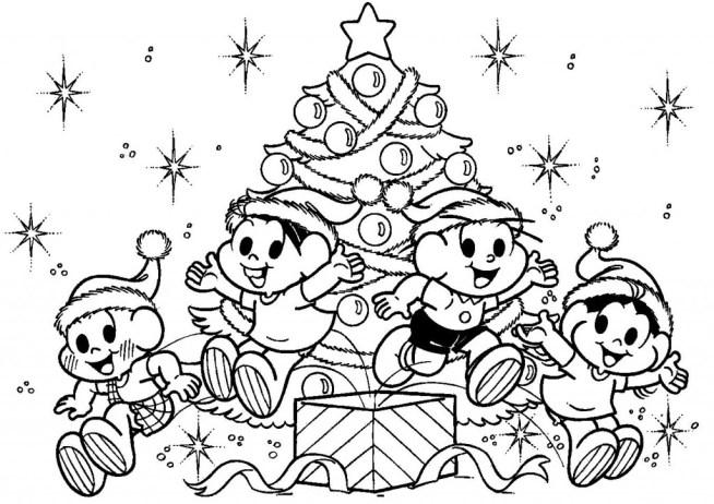 Arvores De Natal Para Imprimir E Pintar