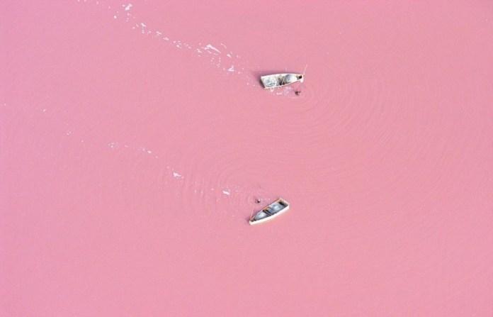 Lago Retba, no Senegal