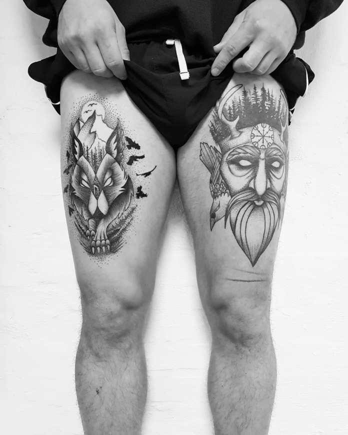 90 Tatuagens Masculinas Nas Pernas