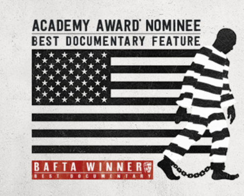 """Banner for Academy Award Nominated movie """"13th"""""""