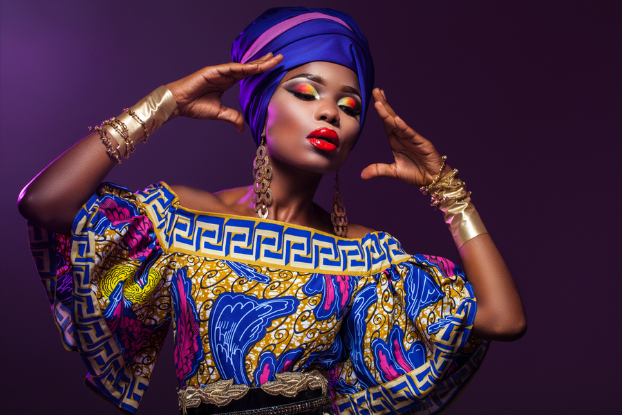 African Woman in Traditional Garments