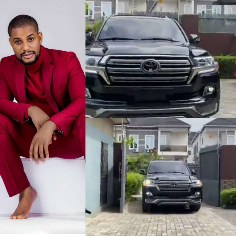 (VIDEO) Alex Ekubo, a well-known actor, acquires a Toyota Land Cruiser.