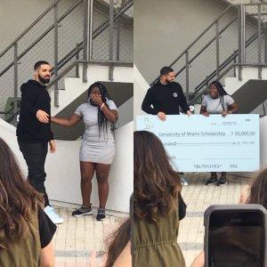 Destiny Paris James received scholarship from Rapper Drake