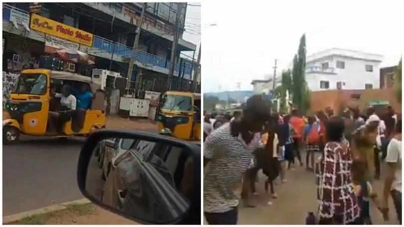 (Video) Father Mbaka returns after he got Missing in Enugu