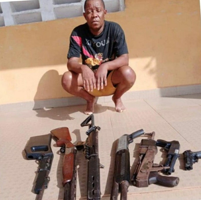 Nollywood Actor, Mike Omoruyi Arrested With Guns In Delta (Photo)