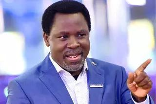 See Angel-Like Creature Hovering Over TB Joshua's Casket At His Funeral
