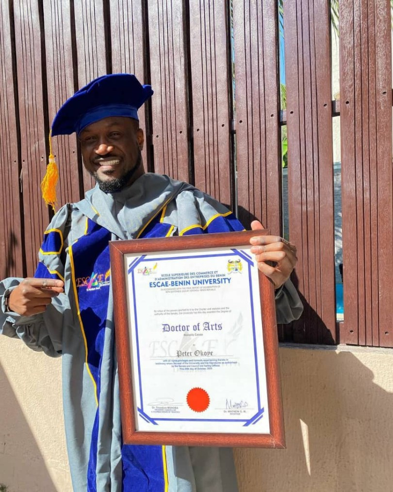 Peter Okoye Bags Doctorate Degree