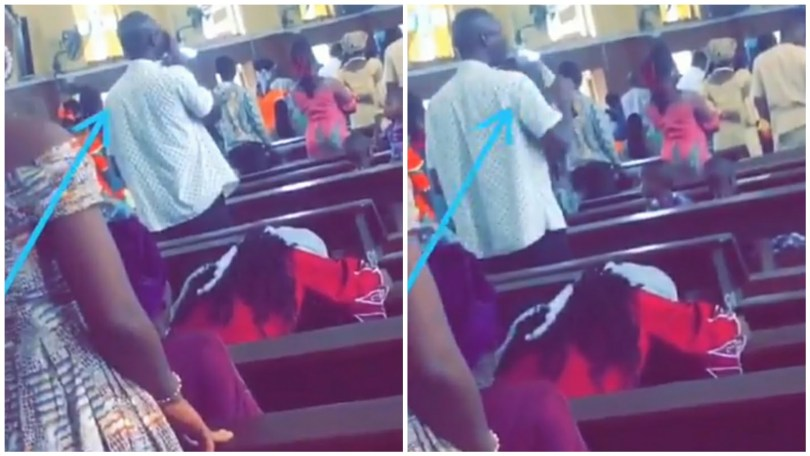 Man Caught During Church Service Eating