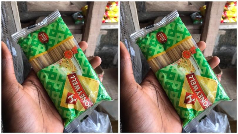 """SAPAghetti"" Nigerians react to a photo of a mini spaghetti posted online"