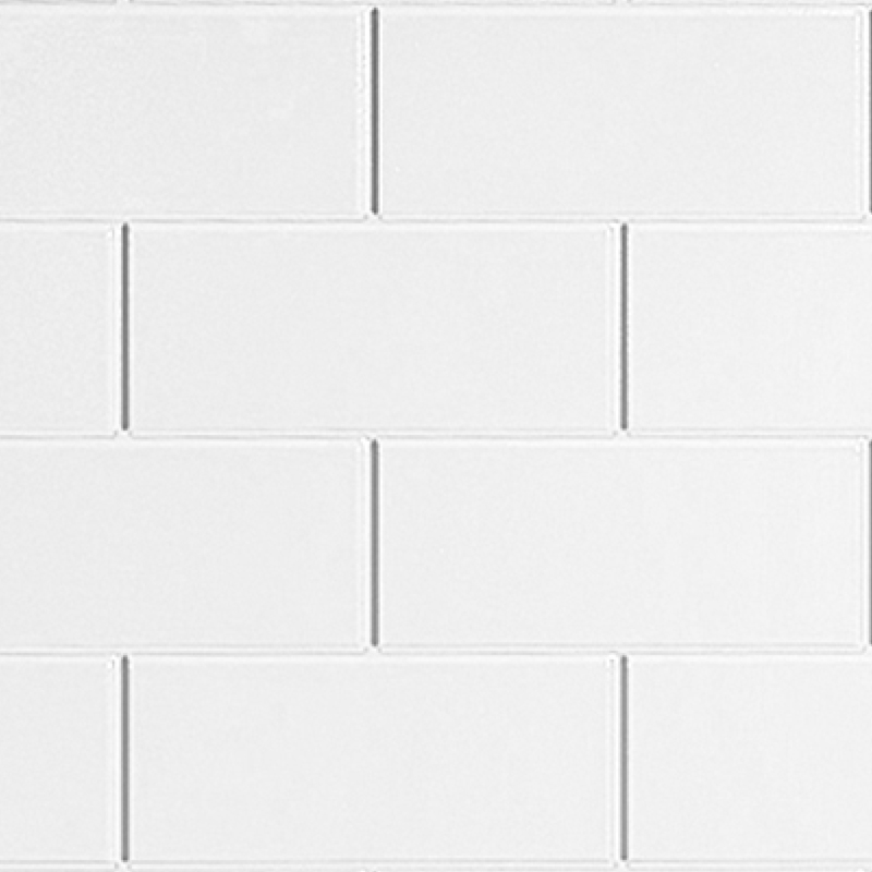 classic brick white metro tile effect