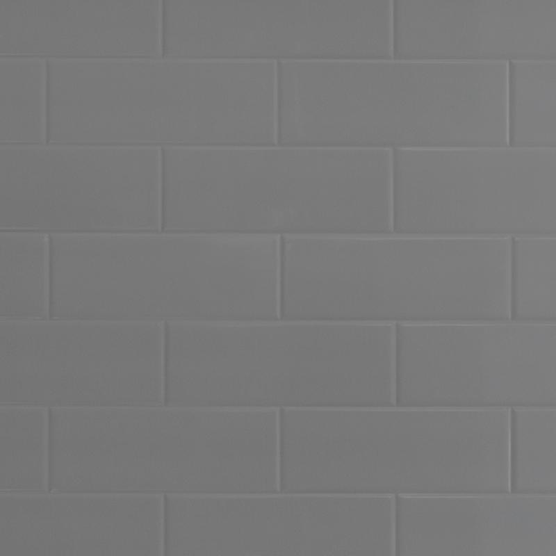 classic click grey metro brick tile