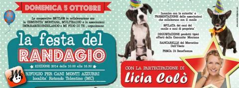 FESTA DEL RANDAGIO - canile Monti Azzurri Tolentino - domenica 5 ottobre