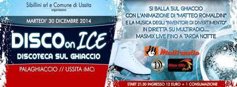 Disco on Ice martedì 30 dicembre al pallazzetto del ghiaccio di Ussita (Macerata)