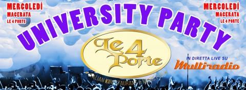 LE 4 PORTE Macerata - mercoledì University Party - live su Multiradio