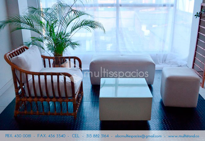 Alquiler sala Lounge, alquiler de mobiliario para eventos en Bogotá