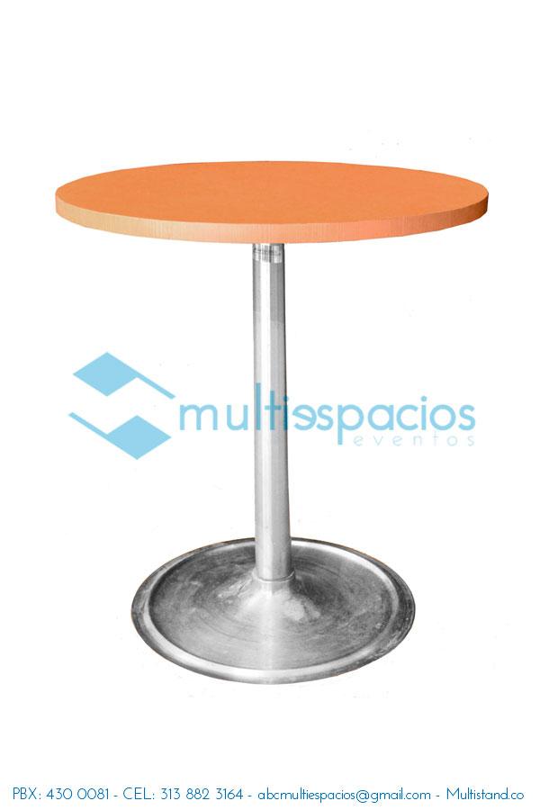 Alquiler de mesa redonda tapa en madera