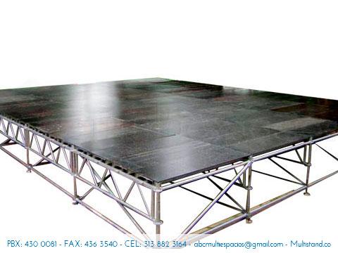 Alquiler de tarima y piso modular