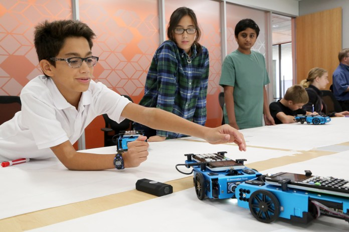When the TI-Innovator Rover is moving, students are learning in a fun, interactive and hands-on way.