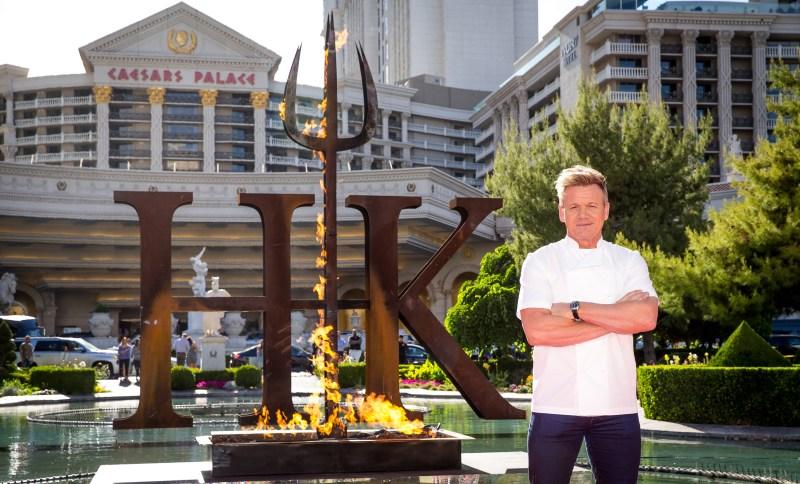 Chef Gordon Ramsay announces the world's first Hell's Kitchen restaurant at Caesars Palace Las Vegas. Photo credit Erik Kabik