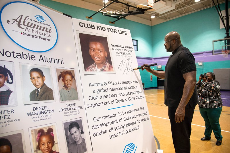 Boys & Girls Clubs of America and Club Alum Shaquille O'Neal announced the winner of the Alumni & Friends Yearbook contest at The Salvation Army Fuqua Boys & Girls Club this week in downtown Atlanta. O'Neal surprised the Atlanta Club teens and had a personal meet and greet with the Yearbook Contest winner.