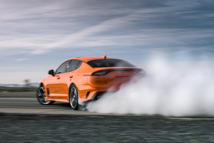 Newly developed Dynamic All-Wheel Drive (D-AWD) system adds drift mode for Stinger GTS.
