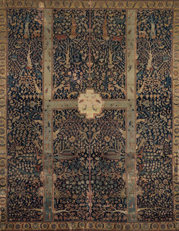 Paradise Garden: Detail of the Wagner Garden Carpet. Iran, 17th century. © Burrell Collection, CSG CIC Glasgow Museum Collections.