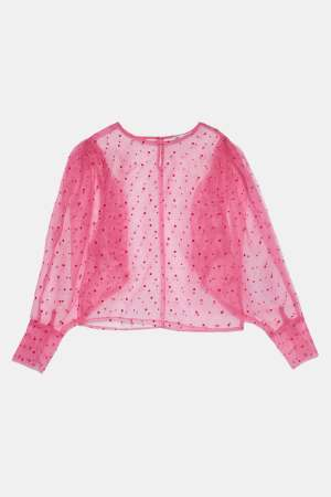 Pink organza top
