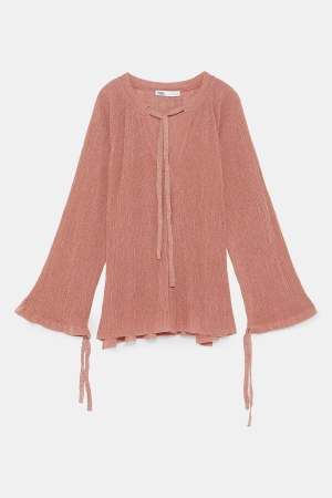 Pink sparkle knit