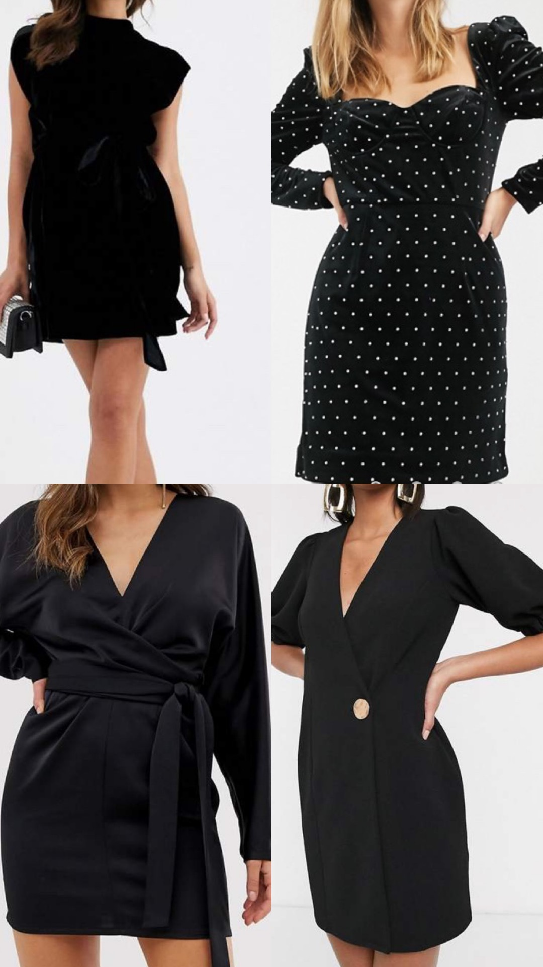 The perfect little black dresses for New Year's Eve