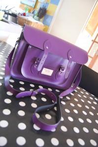 The Leather Satchel Co Purple