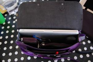 Inside the satchel