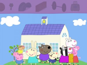 Peppa Pig's Sports Day sticker scene