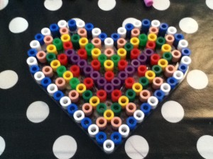 Hama Beads heart by me
