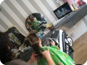 H's haircut at Bigoodi - Charlie and Lola