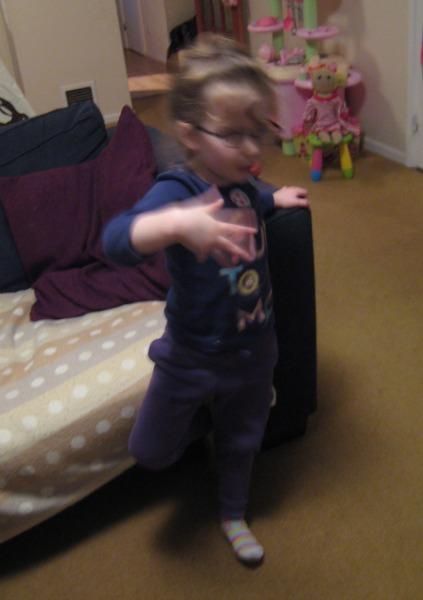 H practising her ballet