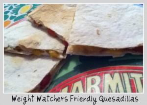 Weight Watchers Friendly Quesadillas