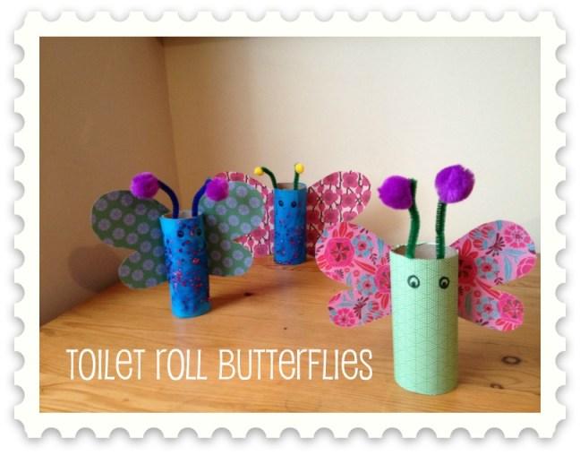 Toilet Roll Butterflies