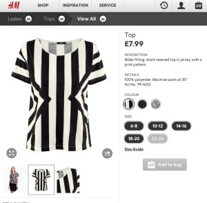 H&M 80's top