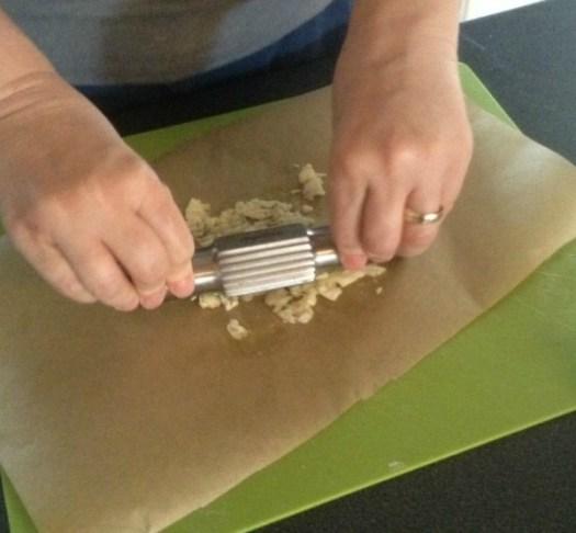 crushing garlic with the Royal VKB garlic crush for movie night