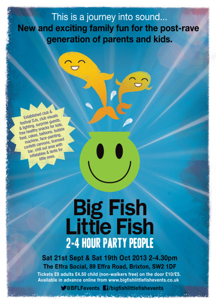 Big fish little fish september event mum friendly for Big fish little fish