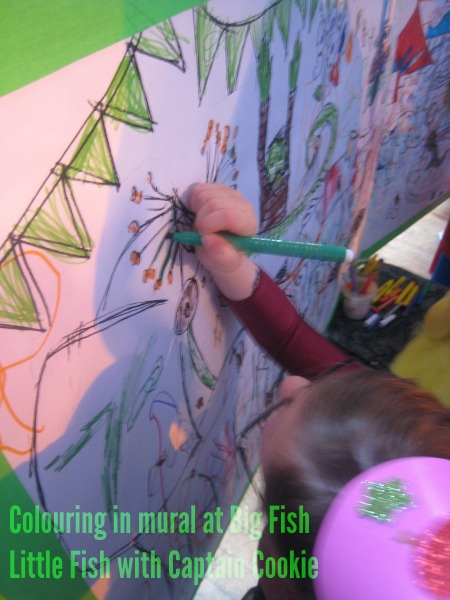 big fish little fish colouring