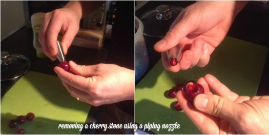 removing a cherry stone